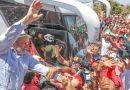 Na fronteira, Lula disse que a sua caravana poderia ir até o Uruguai, mas que não irá