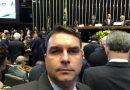 """""""Não há a menor condição de apoiar Renan Calheiros para a presidência do Senado"""", disse Flávio Bolsonaro"""